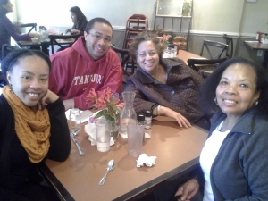 Cookie, Kim, Mike, and Geri at Toast