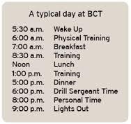 basic training schedule 1