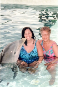 Dolphin, Cookie, and Mom-Back of Program