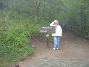 Gail on the Apalachian trail