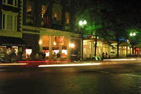 Harvard Coop at night